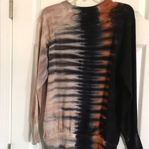 ANTHROPOLOGIE TINA JO BROWN HAND DYE BLOUSE SIZE L